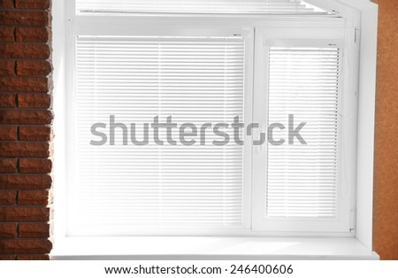 White window with blinds  - stock photo