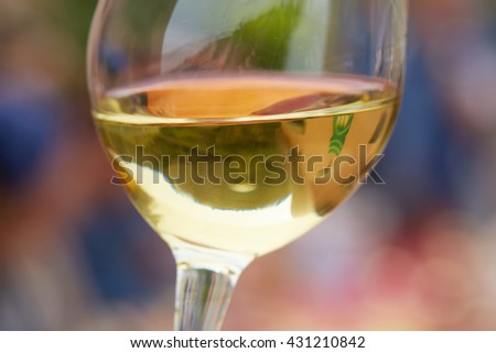 white wine at a party - stock photo