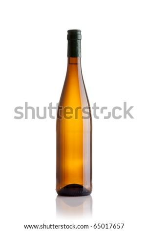 white wine bottle - stock photo