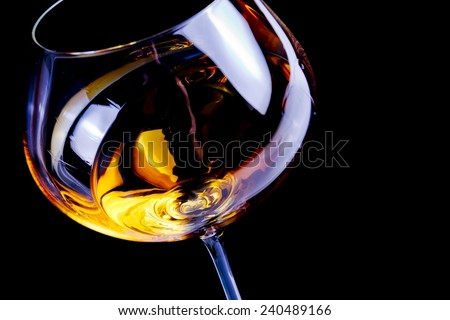 white wine glasses with space for text on light tint blue disco background - stock photo