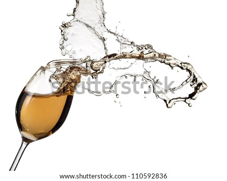 White wine splash - stock photo
