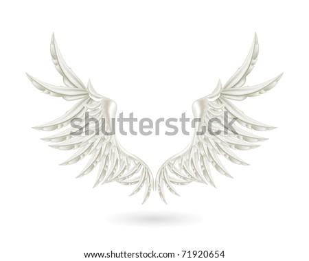 White wings, bitmap copy - stock photo