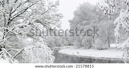 White winter landscape - stock photo