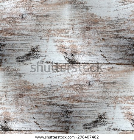white wood background, vintage grainy texture, seamless pattern - stock photo
