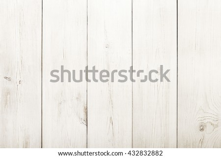 White wood floor texture and background. Wooden surface. Vertical timber