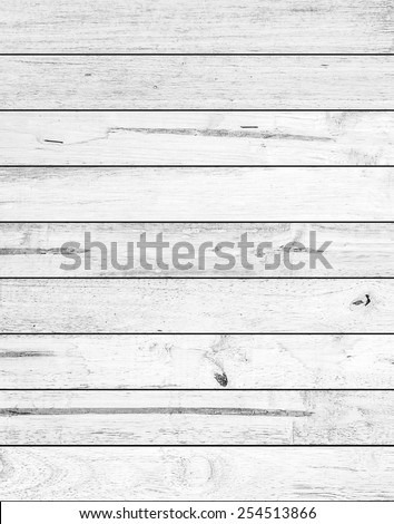 White wood plank  texture background - stock photo