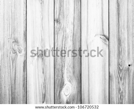 White Wood Planks as Background or Texture, Natural Pattern - stock photo
