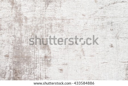 White Wood Texture, weathered painted white  Plank Striped Timber Desk Close Up  Background - stock photo