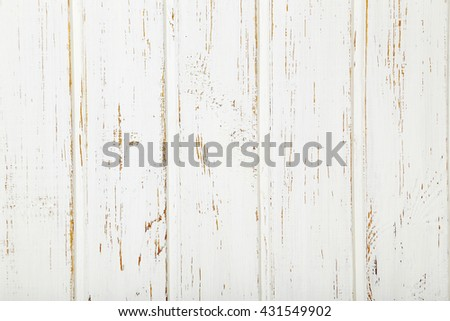 White wood wall texture background, close up - stock photo