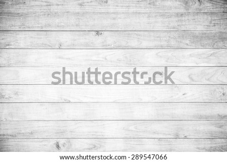 White wooden panel background - stock photo