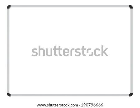 Whiteboard. blank white board isolated on white. school whiteboard - stock photo