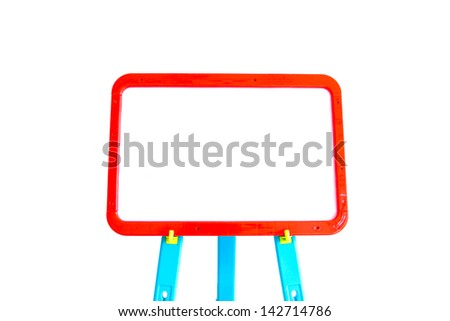 Whiteboard for displaying mathematical equations - stock photo