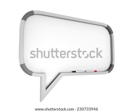Whiteboard Speech Bubble - stock photo