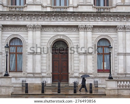 Whitehall, London, government building - stock photo