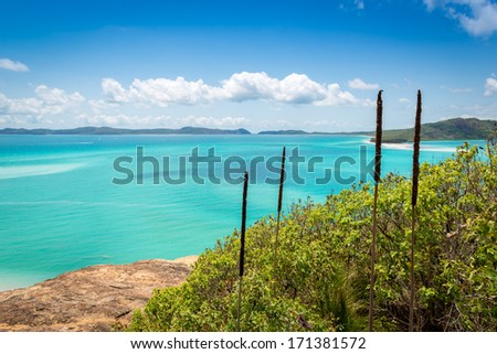 Whitehaven beach, Whitsundays - Australia - stock photo