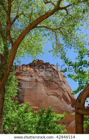 Whitehouse Mesa at Canyon De Chelly - stock photo