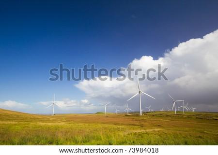 Whitelee Windfarm - stock photo