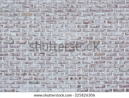 Whitewashed brick wall texture or background - stock photo