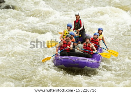 WHITEWATER RAFTING BOAT, GROUP OF SEVEN PEOPLE