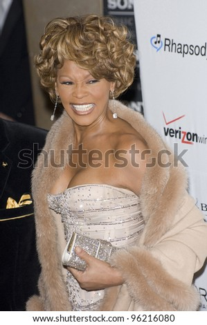 WHITNEY HOUSTON at the Clive Davis pre-Grammy Party at the Beverly Hilton Hotel. February 11, 2007 Beverly Hills, CA Picture: Paul Smith / Featureflash - stock photo