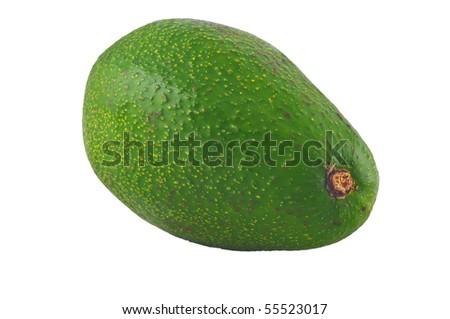 whole avocado fruit isolated on white - stock photo