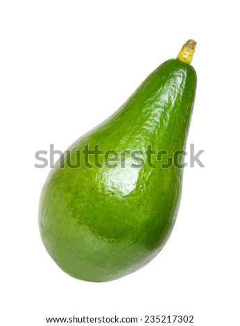 Whole avocado isolated on white  - stock photo