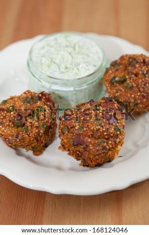 Whole Grain Quinoa Muffins - stock photo