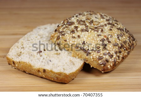 whole-grain  roll - stock photo