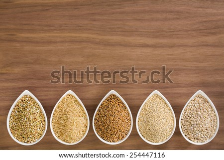 whole grains  - stock photo