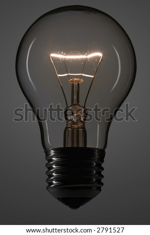 whole lit bulb in the dark