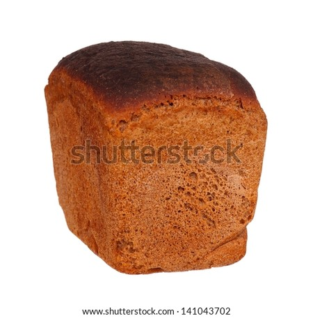 Whole rye bread isolated on white background cutout - stock photo