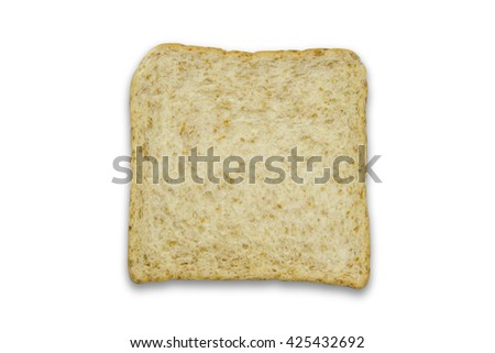 Whole wheat bread isolated on white background / Whole wheat bread - stock photo