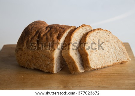 Whole Wheat Bread Loaf Slices