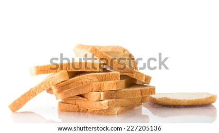 whole wheat bread on a white background. - stock photo