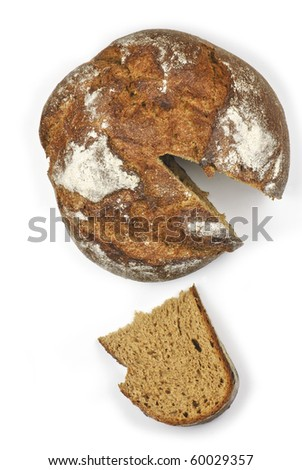 Wholegrain bread from top - stock photo