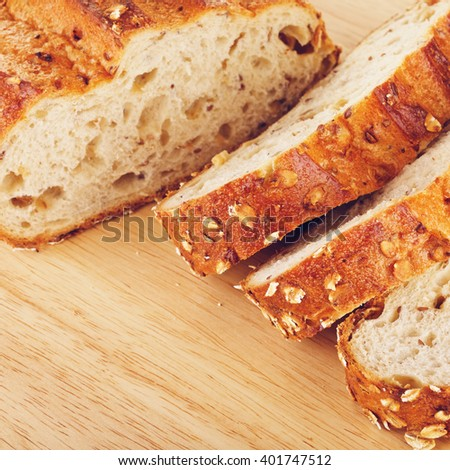 Wholegrain Bread With Oats And Nuts - stock photo