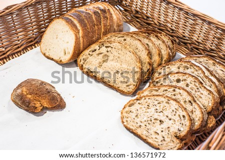 Wholewheat bread in basket