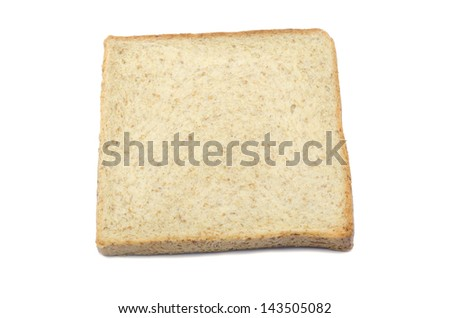 wholewheat breads, isolated on white background