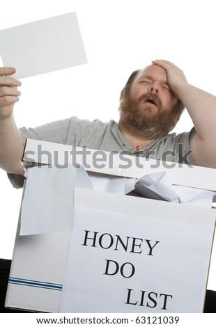 Why do I always get the hard chores - stock photo