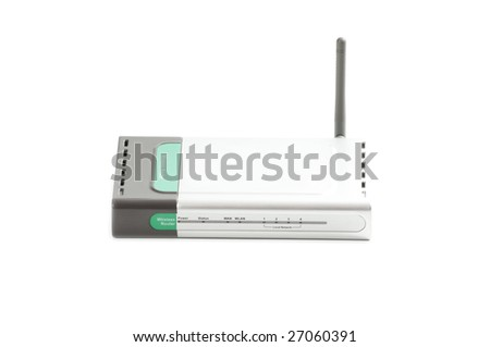 Wi-Fi adapter, modern and suitable way data communication isolated on white