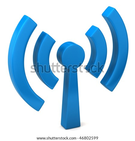 wi-fi icon - stock photo
