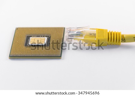 Wi-Fi telephony is a technology that any individual or business can set up so long as they have an Internet connection. Businesses rely on powerful computer processors for their voip networks. - stock photo