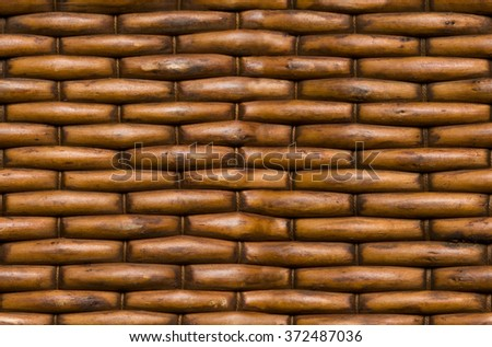 Wicker basket background surface texture seamlessly tileable - stock photo
