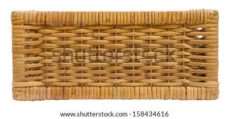 Wicker basket drawer side view - stock photo