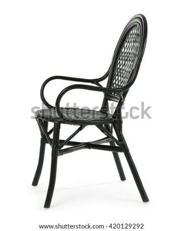 Wicker chair isolated on white