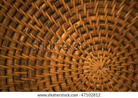 wicker spiral, off-center - stock photo