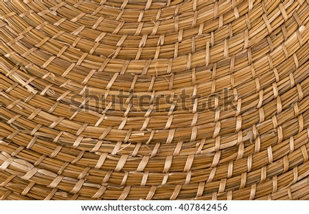 Wicker Woven Texture Background - stock photo
