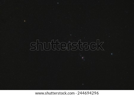 Wide Angle View of the Orion Constellation - stock photo
