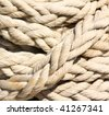 Wide braided rope. - stock photo
