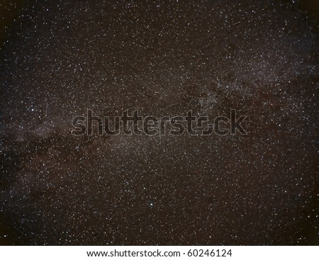 Wide field view of the Milky Way - stock photo